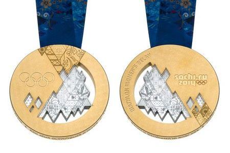 На Олимпиаде в Сочи спортсмены получат такие тяжелые медали