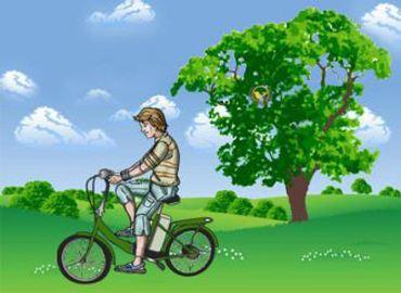 Электрический велосипед практичней и экологичней автомобиля