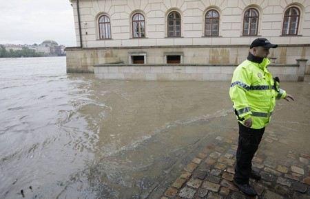 В Праге наводнение достигло пика.