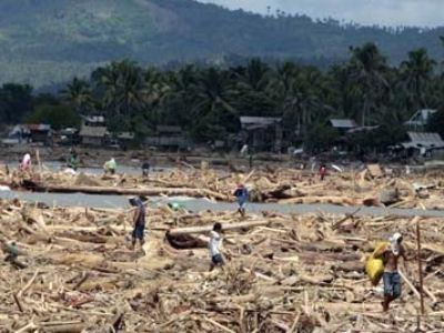 На Филиппинах перерабатывают рыболовные сети