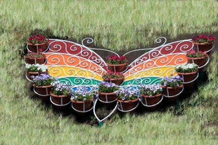 Клумба-бабочка в Канаше