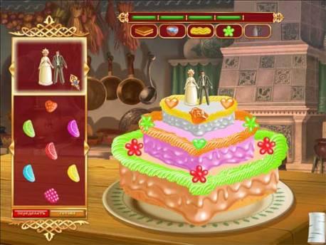 Игры развивают творческие способности: без фантазии не украсишь красиво свадебный торт Василисы и Ивана-Царевича