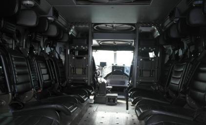 Так выглядит салон бронированного «Тайфуна»