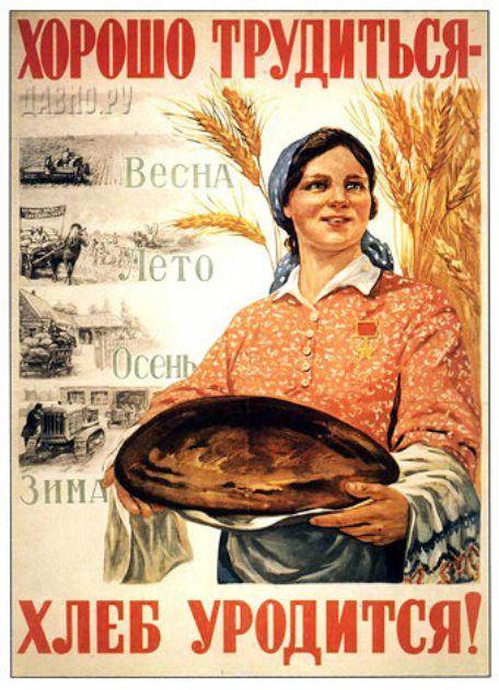 Упорно трудиться - будет хлеб в закромах водиться