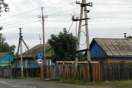 Линии электропередач были повреждены во время урагана