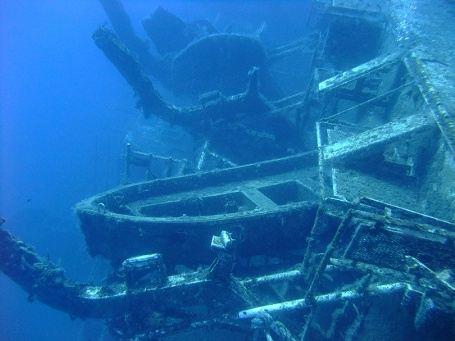 Любимое место дайверов - затонувший паром Зейнобия