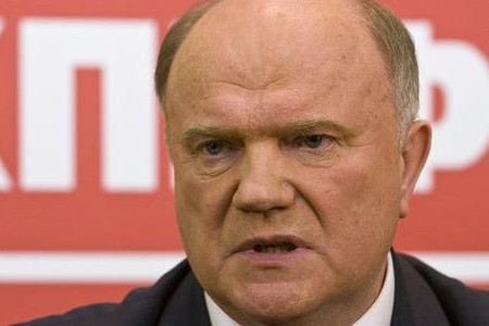 Gennady Zyuganov is going to dismiss Medvedev. And maybe take his place