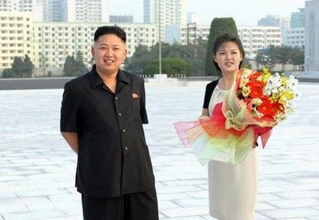 ким чен ын с женой фото
