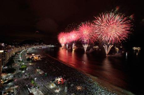 Новый год на пляже Копакабана