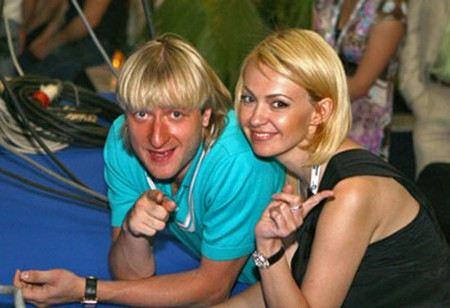 Евгений Плющенко и вторая жена Яна Рудковская