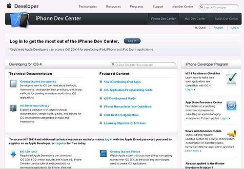 Сайт для разработчик iOS Dev Center, который подвергся атаке