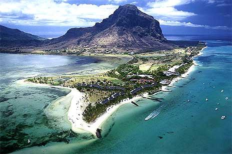 Вид на Маврикий с высоты птичьего полета
