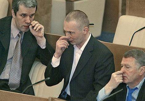 В центре: депутат от ЛДПР Игорь Лебедев