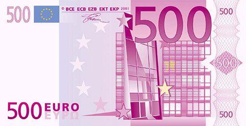 Новая купюра в 500 евро обойдется вам минимум в 21900 руб