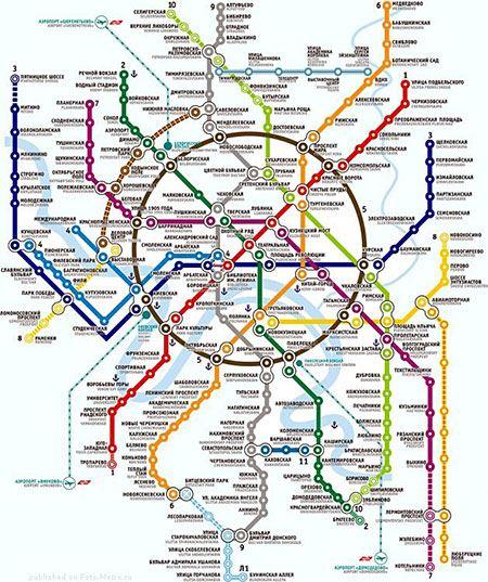 Карта будущего метро Москвы