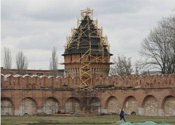 В Туле идет реставрация Кремля