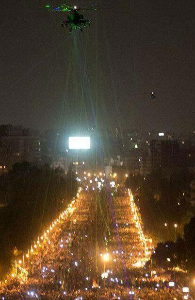 Панорама ночного Каира