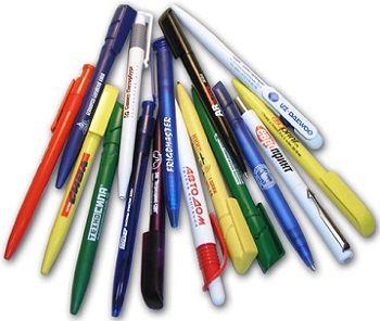 Ручки с изображением различных логотипов