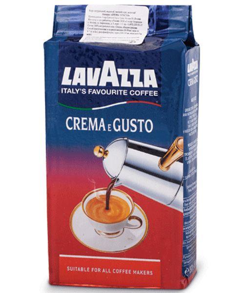 Молотый кофе Италии Lavazza Crema e Gusto