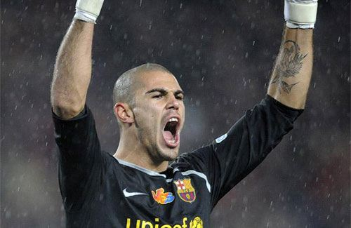 Фото: Виктор (Витор) Вальдес, вратарь, Барселона