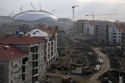 Будущая олимпийская деревня в Сочи 2014