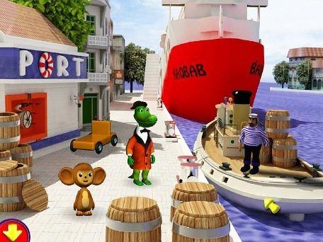Чебурашка и крокодил Гена оказываются в порту