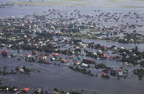Фото: паводок в Приамурье