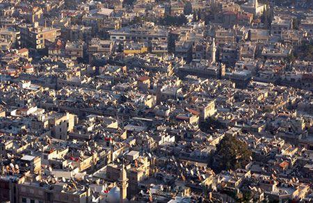 Фото: панорама города Дамаск