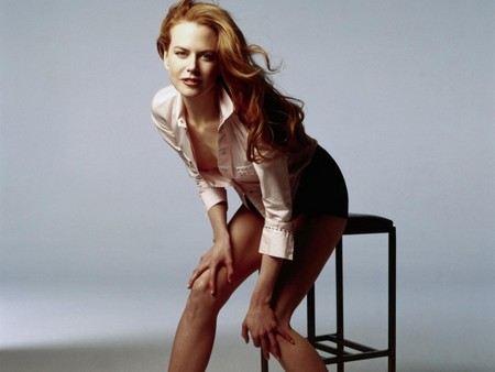 Paparazzi on a bicycle shot down actress Nicole Kidman.