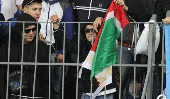 Поджог флага Чечни на Петровском