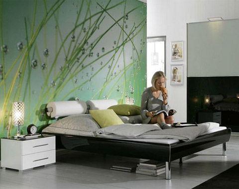 Фотообои дизайн спальня