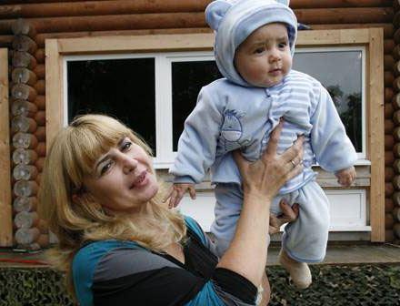 Ирина Агибалова с любимым внуком