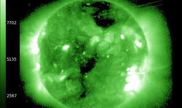 Магнитная буря на Солнце