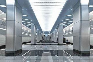 Проект интерьера станции метро «Деловой центр»