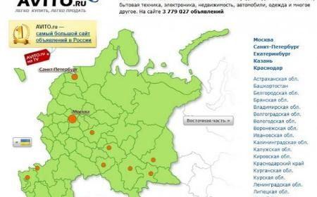 Авито - самый большой российский сайт объявлений