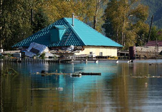 Затопленный дом. Хабаровский край