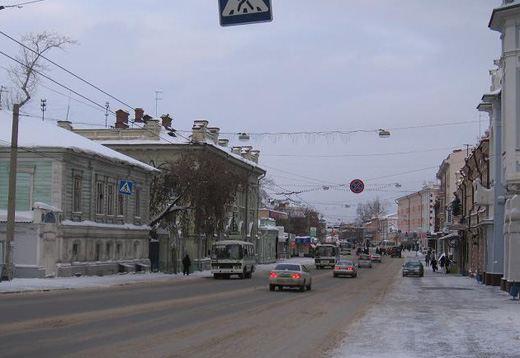 Улицы Томска зимой