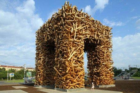 Памятник табурету в в Перми, Россия