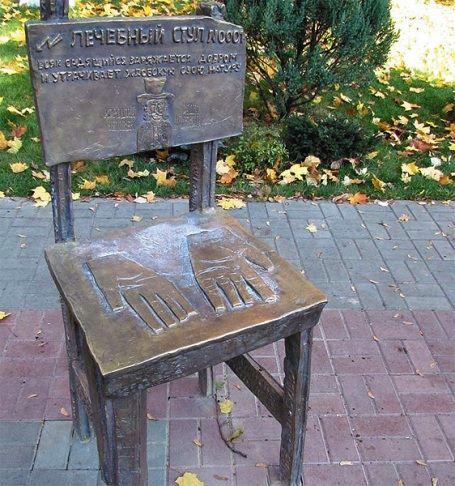 Памятник стулу в Воронеже, Россия