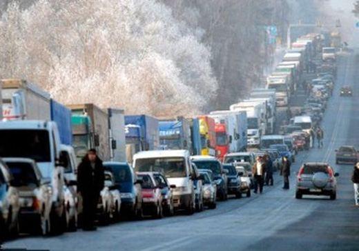Пробка на границе с Литвой