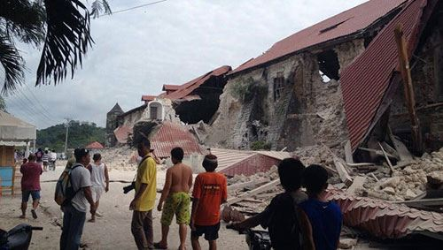 Фото: землетрясение на Филиппинах, октябрь 2013 года