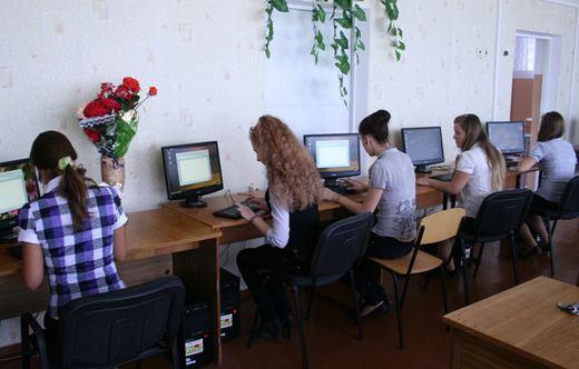 Компьютерный класс в российской средней школе