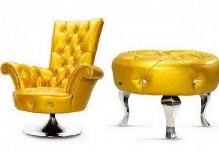 Кожаная мебель ярких оттенков