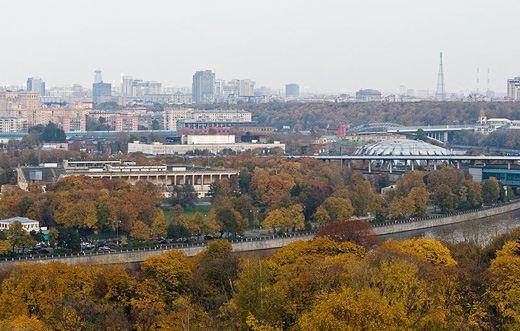 Вид на осеннюю Москву