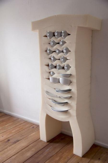 Мягкий шкаф для посуды