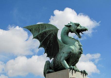 Дракон - символ Любляны и её покровитель