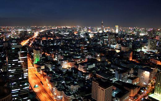 Вид на ночной Бангкок