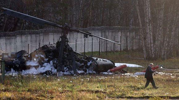 Вертолет Ка-52 «Аллигатор» разбился в московском Жулебино