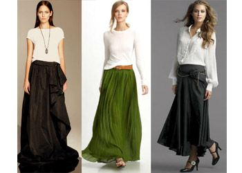 В моде всегда длинные юбки