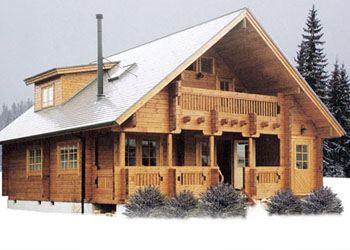 Есть ряд преимуществ стройки дома из бруса в холодное время года